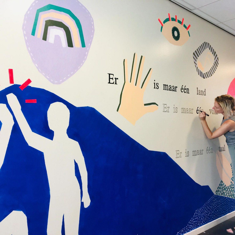 PROJECT: Muurschildering Wereldwijs